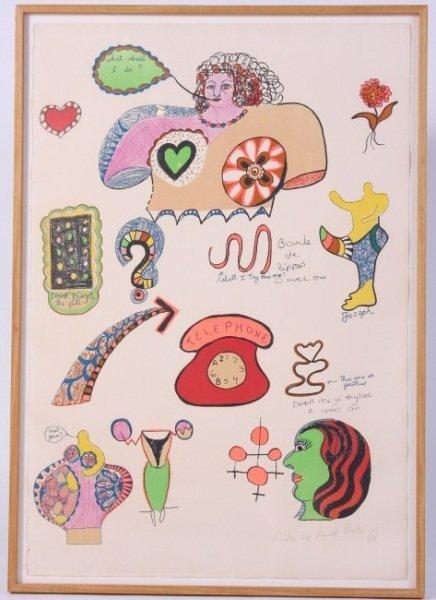 """N. de Saint Phalle (1930-2002), """"What Shall I Do?"""""""