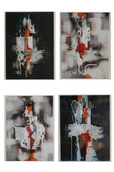 Laszlo Dus (b. 1941), Four Abstract Lithos