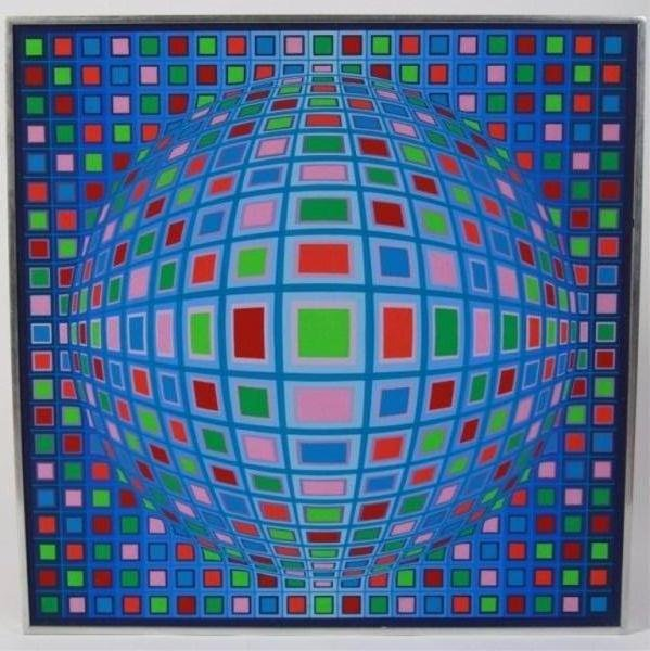 "Victor Vasarely (1906-1997), ""Kela-Mc"""