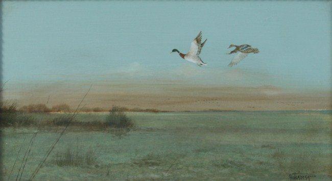 Raul Gutierrez (b. 1935), Mallards in Flight