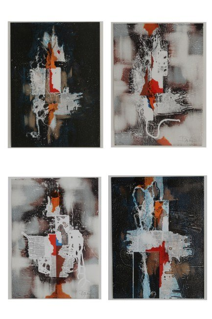 Laszlo Dus (b. 1941), Four Abstract Lithos