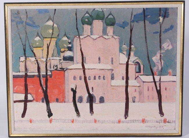 Ivan I. Godlevsky (1908-1998), Russian Cityscape