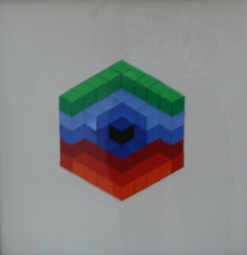"Victor Vasarely (1906-1997), ""Sin Hat-C"" Collage"