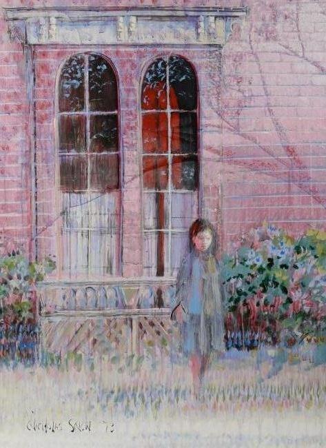 Nicholas Snow (20th C.) Girl in a Garden