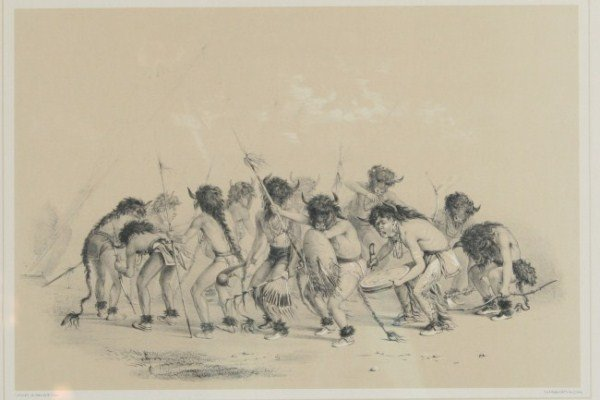 "After G. Catlin (1796-1872), ""Buffalo Dance"""