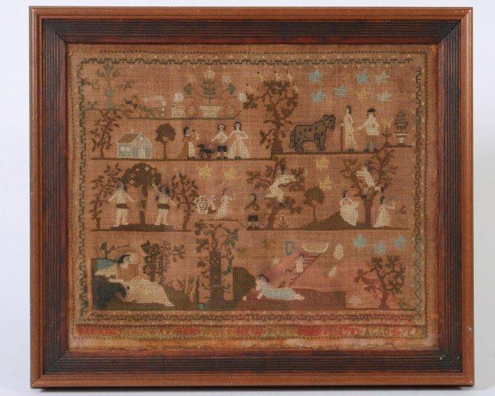 Needlework Sampler, New York, 1783.