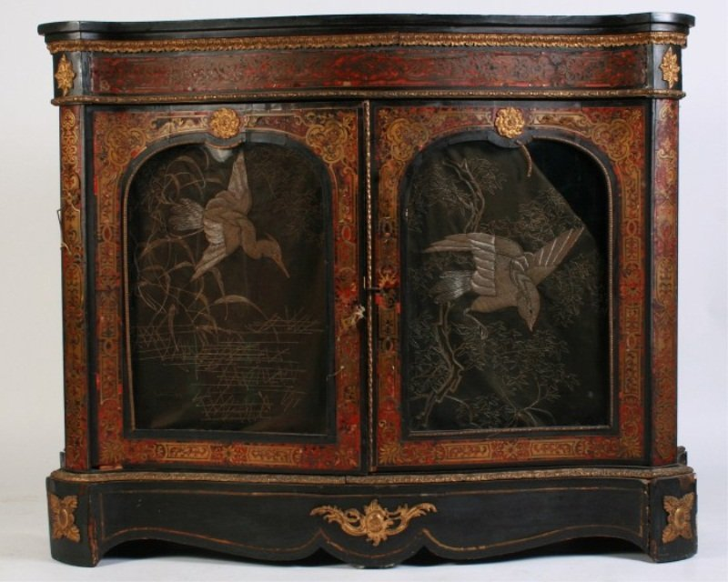 Second Empire Boulle Cabinet, Late 19th C.