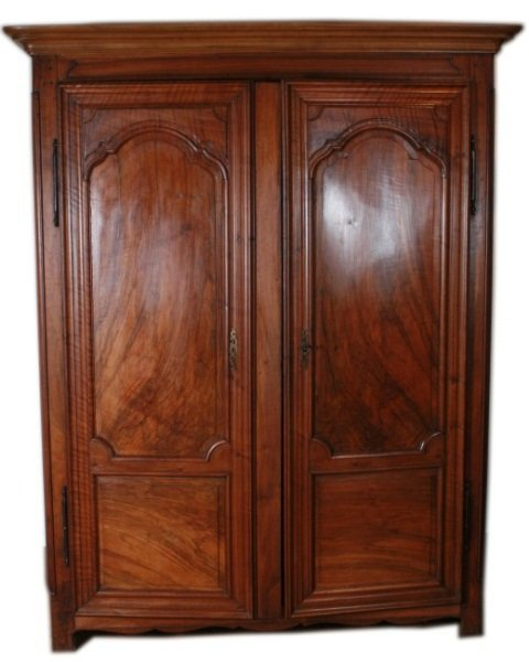 Provincial Walnut Armoire, 19th C. French