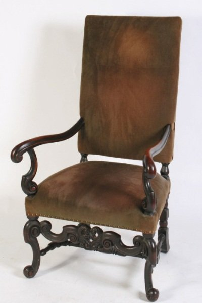 Louis XIV Style Open Armchair, French, Late 19th C