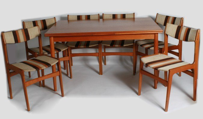 Mid-Century Teak Dining Table and Chairs, Danish