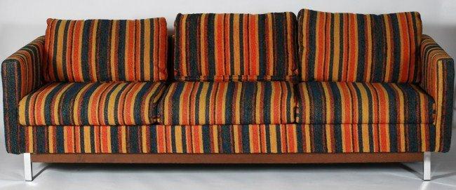 Selig Upholstered and Chrome Sofa, 20th C.