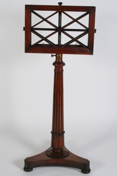Regency Rosewood Music Stand, 19th C.