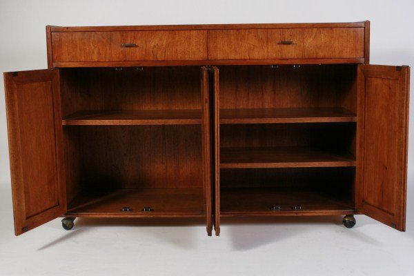 Founders Furniture Mid-Century Walnut Credenza - 3