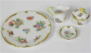 Four Herend Porcelain Table Articles 19th C