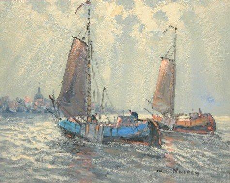 Wim van Norden (1917-2001), Sailboats at Sea