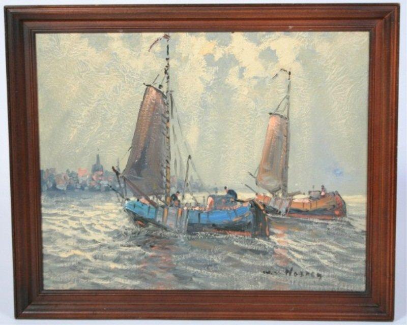Wim van Norden (1917-2001), Sailboats at Sea - 2