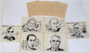 Hy Vogel 19002001 Group of Six Caricatures