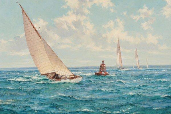 """Montague Dawson (1890-1973), """"Summer Skies..."""""""