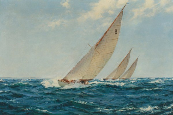 "Montague Dawson (1890-1973), ""West Solents..."""