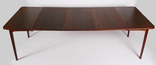 Mid-Century Wood Extension Dining Table