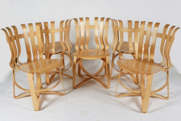 Group of 5 Frank Gehry Hat Trick Chairs