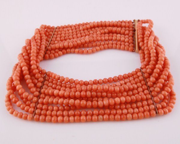 Victorian Natural Coral Choker Necklace