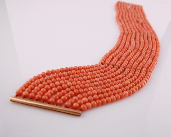 Victorian Natural Coral Choker Necklace - 2
