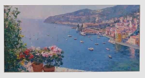 Pierre Bittar (B. 1934), Coastal Scene