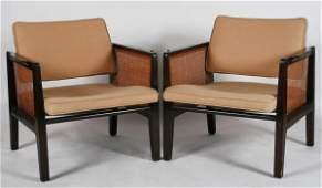 Pair Edward Wormley Armchairs Model 5513