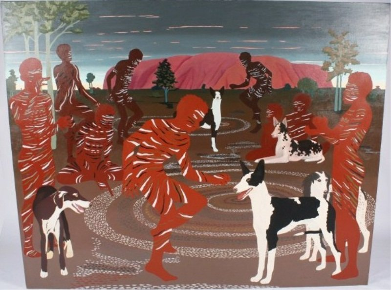 """Don Cooper (B. 1944), """"Red Ochre Party"""""""