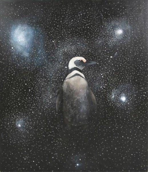"""Cindy Kane (B. 1957), """"Stellar Penguin"""""""