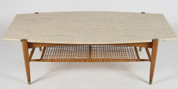 Mathsson wood and travertine coffee table bruno mathsson wood and travertine coffee table geotapseo Image collections