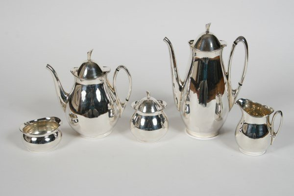 Tango Aceves Sterling Tea and Coffee Service