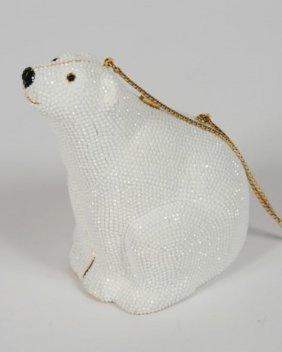 Judith Leiber Polar Bear Minaudiere