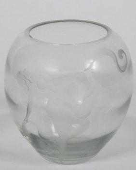 Art Deco Style Art Glass Vase