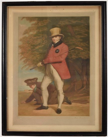 Group of Two William Henderson Golf Prints