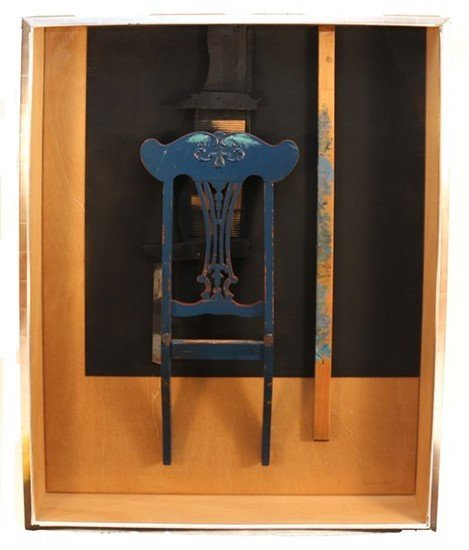 """Louise Nevelson (1899-1988) """"Throne"""""""