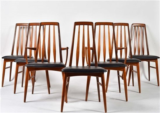 Group of Seven Niels Otto Møller Dining Chairs