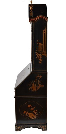 A George II-Style Chinoiserie Lacquered Secretary - 3
