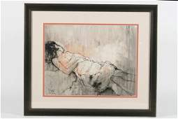 Jean Jansem (French, 1920-2013), Portrait of a...