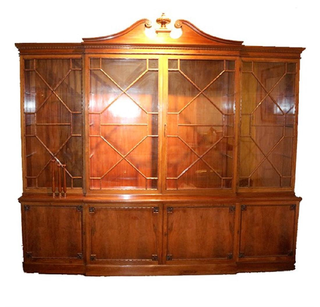Chippendale Style Mahogany China Cabinet
