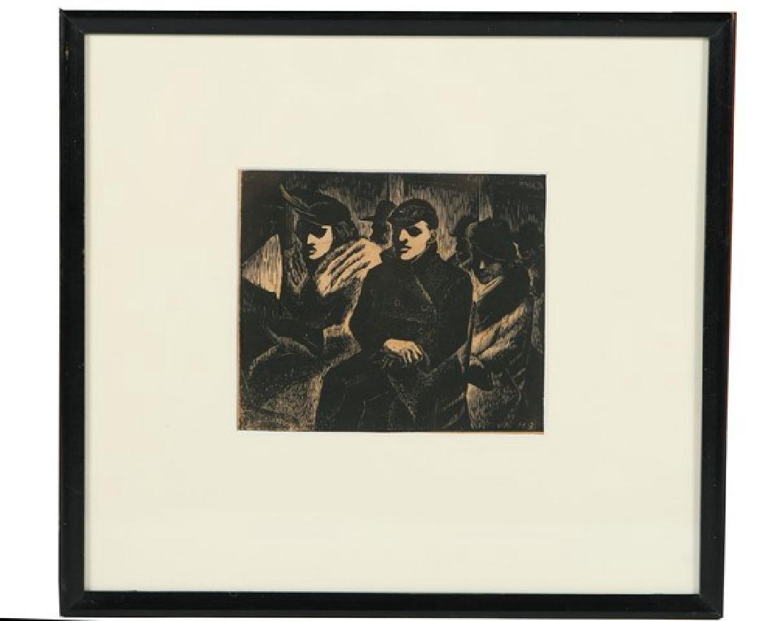 Harry Bertoia (1915-1976) Woodcut Print