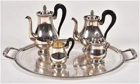 Christofle Silver Plate Coffee and Tea Service