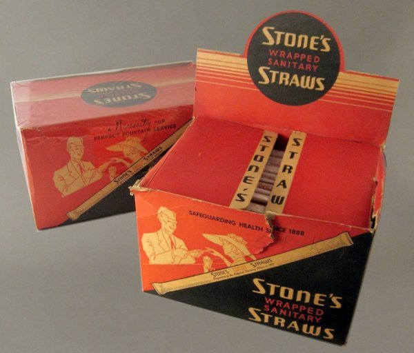 1: 2 Nos Stone's Paper Straw Display Boxes