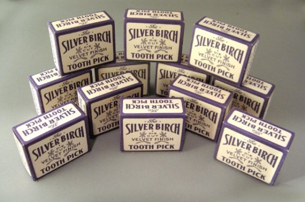 7: 12 Nos Boxes of Silver Birch Tooth Picks