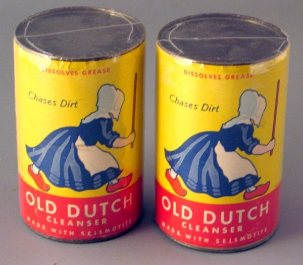 15: 2 1945 Nos Old Dutch Cleansers with Paper Labels