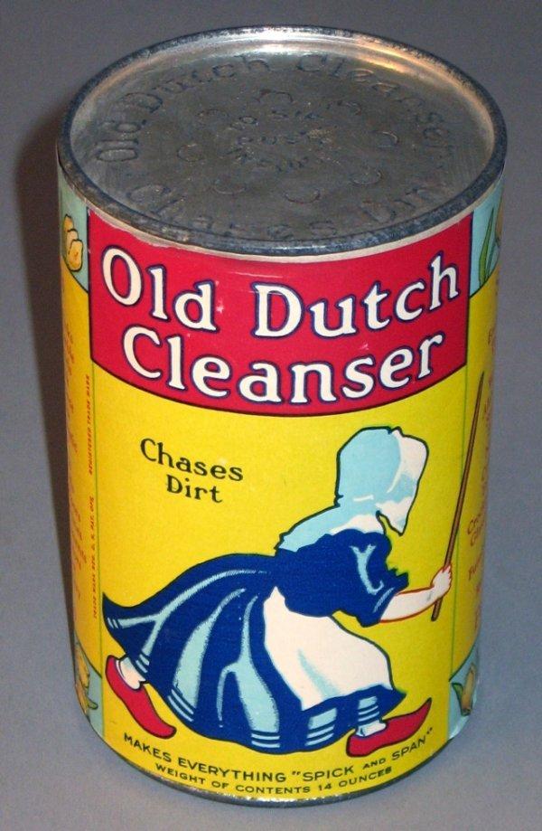 18: 1930's Nos Old Dutch Cleanser Tin