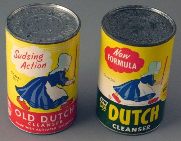 19: 2 Nos Old Dutch Cleanser Tins