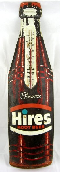 781: Hires Root Beer Tin Thermometer