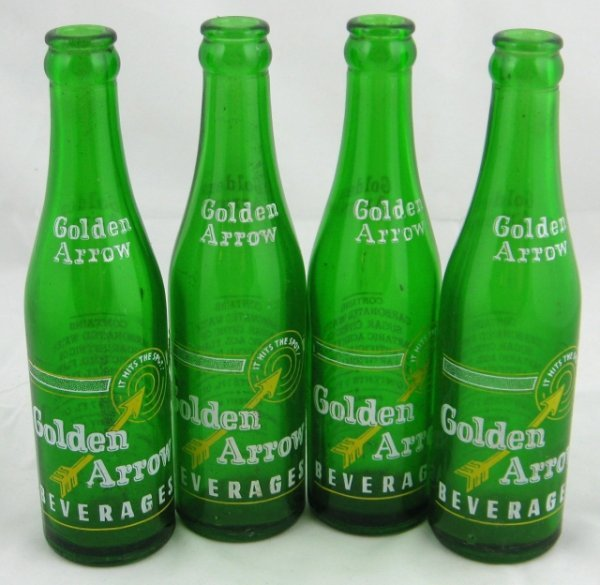 787: Golden Arrow Beverage Green Bottles Lancaster PA